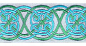 Celtic Landscape design, teal and green colors