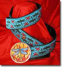 Dragonfly design belt