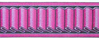 Ribbon Wave design, pink color